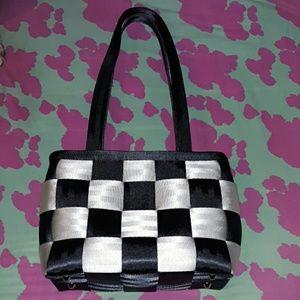 Harveys Checkerboard Seatbelt Bag Purse